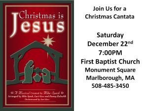 2012 christmas cantata poster